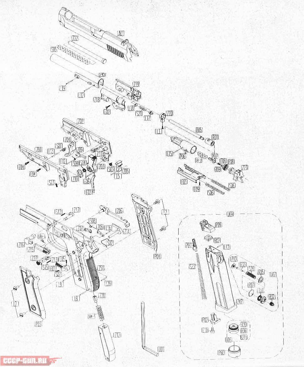 Пневматический пистолет Беретта (M-92FS, 92 KWC и Elite II ...