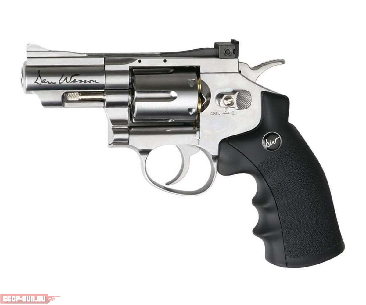 Пневматический револьвер ASG Dan Wesson 2.5 Silver (пулевой)