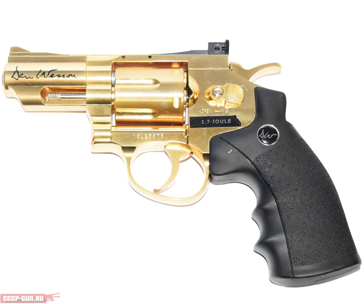 Пневматический револьвер ASG Dan Wesson 2.5 Gold