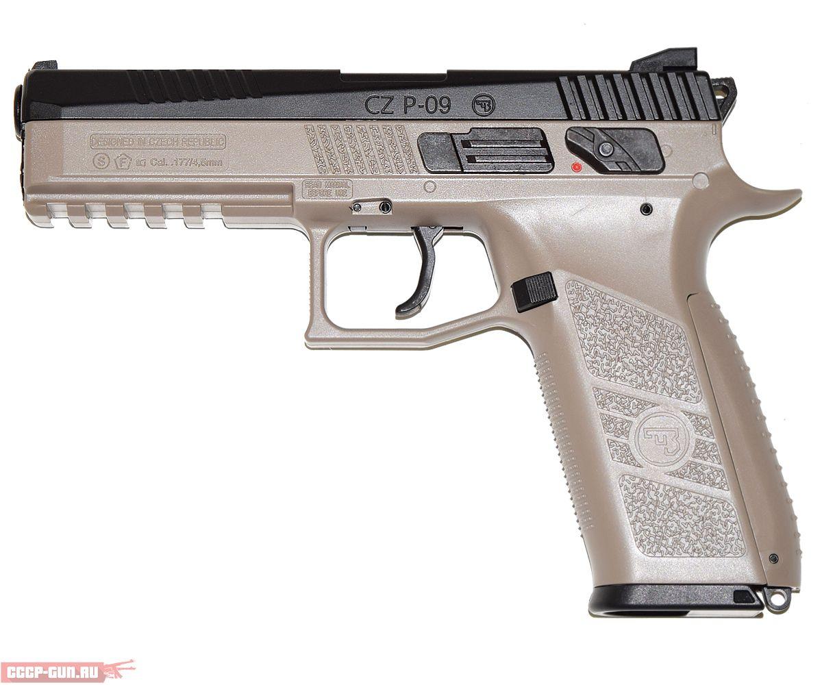 Пневматический пистолет ASG CZ P-09 DT FDE (пулевой)