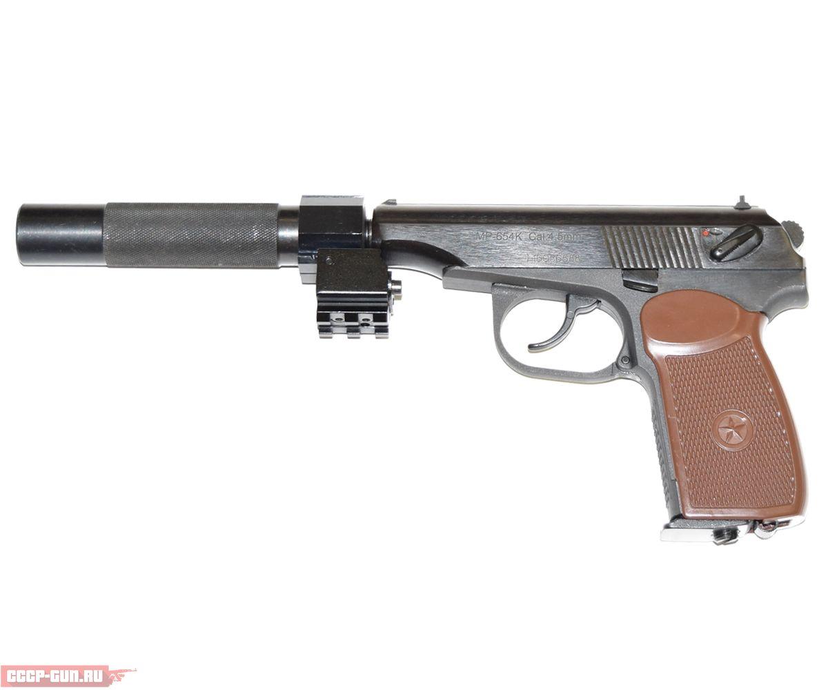 Пневматический пистолет МР 654К ГЛ (Глушитель ЛЦУ Байкал)