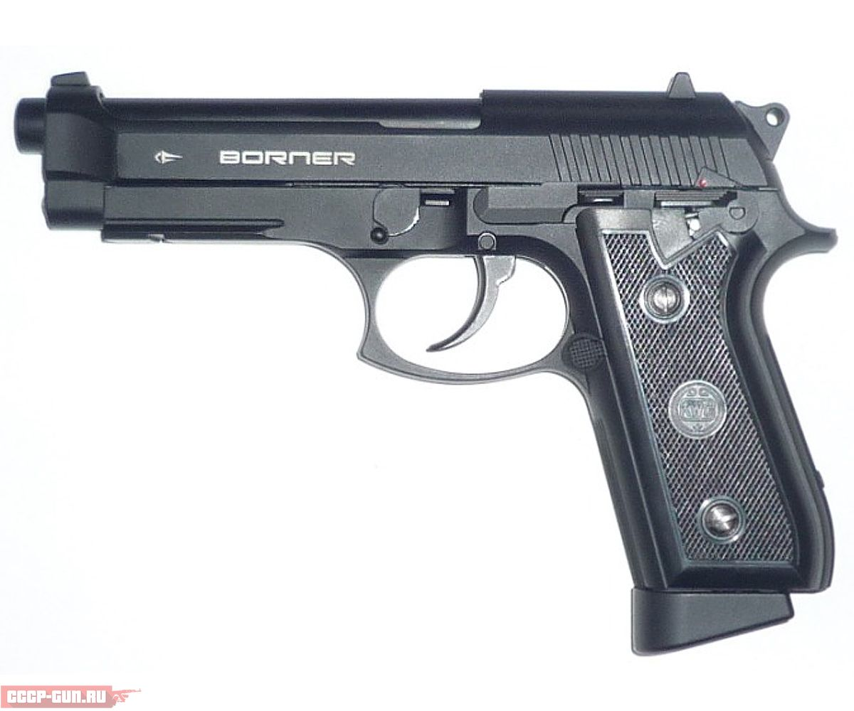 Пневматический пистолет Borner KMB15 (Беретта 92)