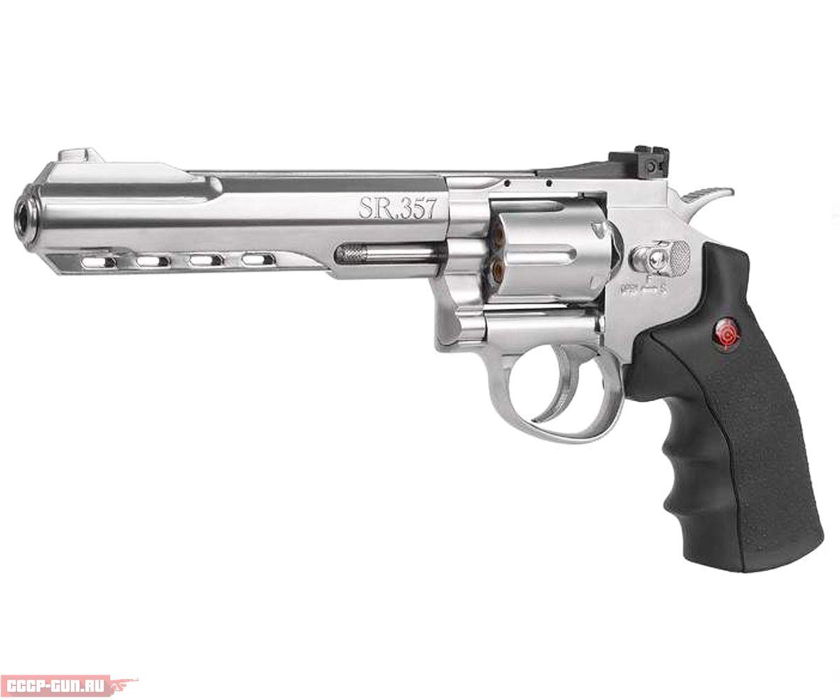 Пневматический револьвер Crosman SR 357 Silver