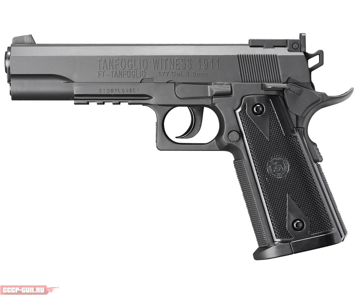 Пневматический пистолет Cybergun Tanfoglio Witness 1911 (Пластик)