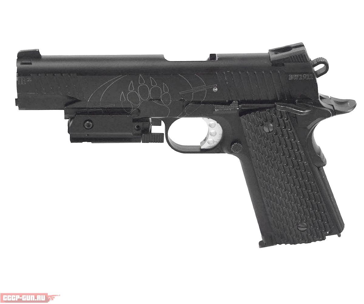Пневматический пистолет Swiss Arms BW 1911 R2 с ЛЦУ