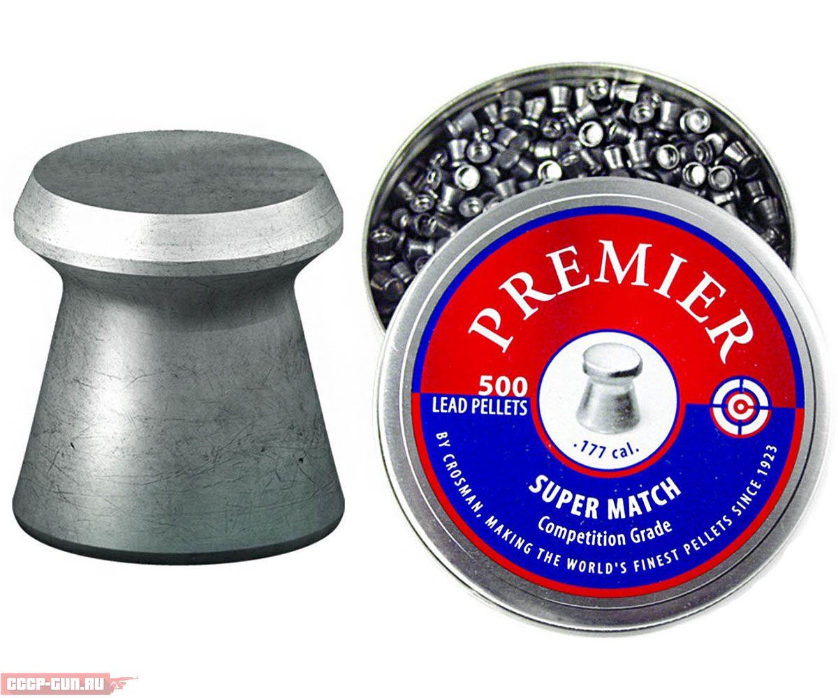 Пули пневматические Crosman Premier Super Match (500 шт, 0.51 г)
