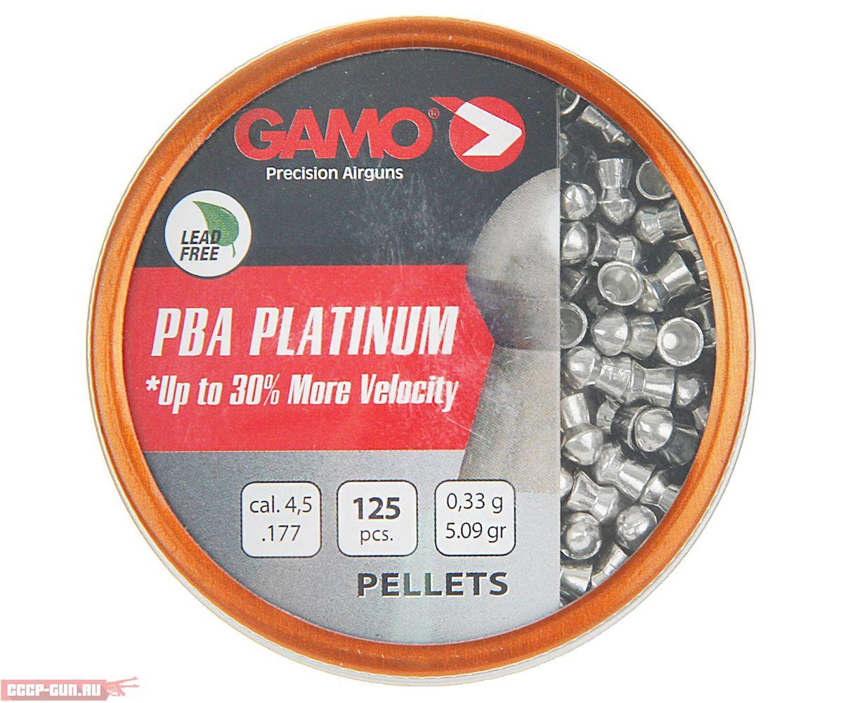 Пневматические пули Gamo PBA Platinum 4.5 мм (125 шт, 0.33 г)