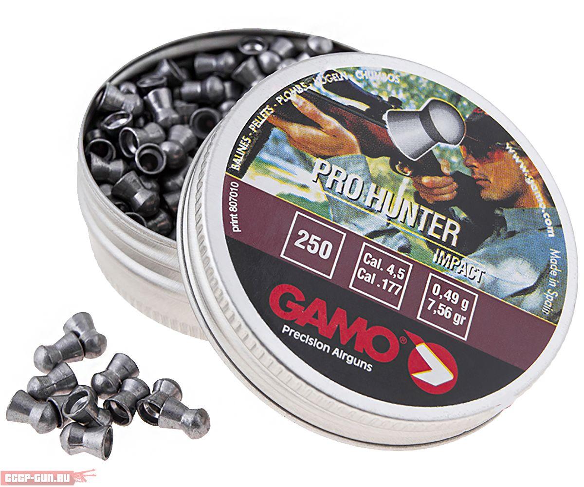 Пневматические пули Gamo Pro-Hunter 4.5 мм (250 шт, 0.49 г)