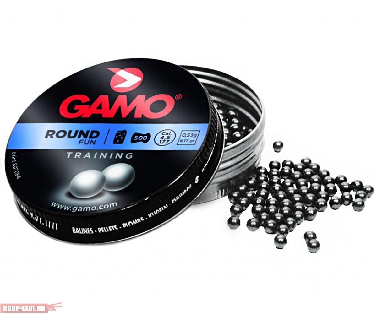 Пневматические пули Gamo Round 4.5 мм (500 шт, 0.53 г)